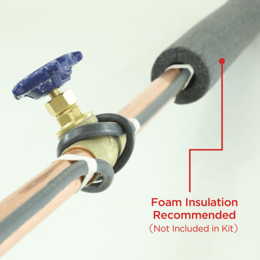 Insulated Pipe with heat tape
