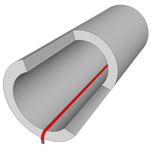 Culvert freeze protection pipe trace heat tape