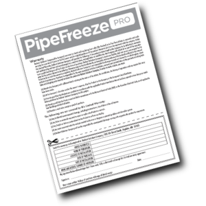 Warranty Registration Pipe Freeze Pro